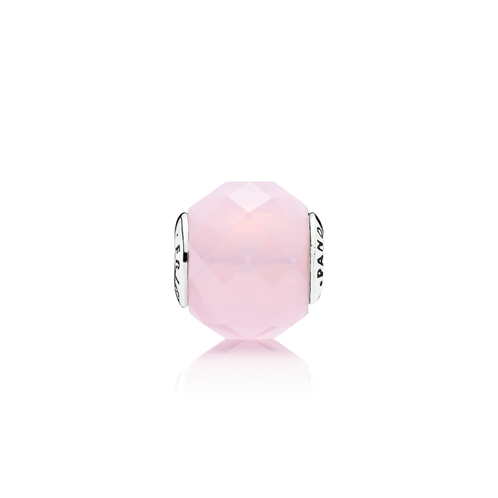 FRIENDSHIP Charm, Opalescent Pink Crystal, Sterling silver, Silicone, Pink, Crystal - PANDORA - #796069NOP
