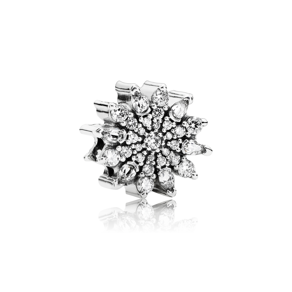 Ice Crystal Charm, Clear CZ