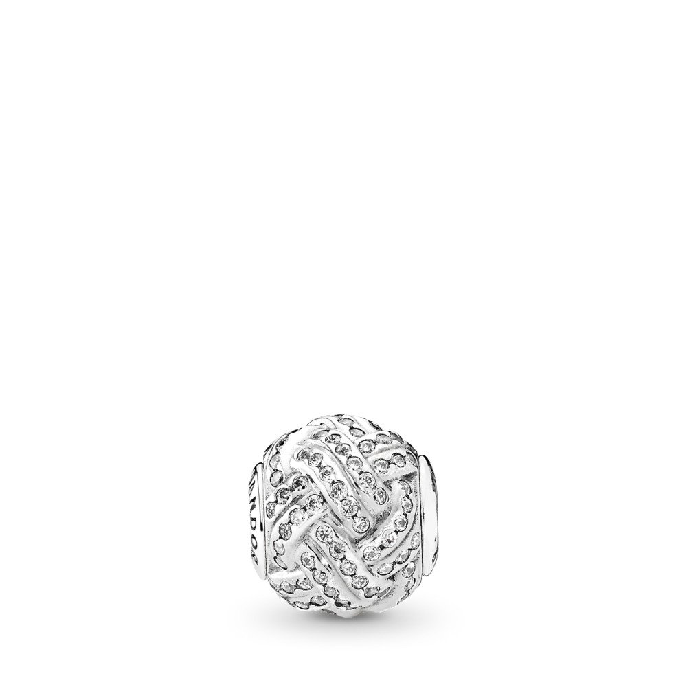 FRIENDSHIP Charm, Clear CZ, Sterling silver, Silicone, Cubic Zirconia - PANDORA - #796086CZ