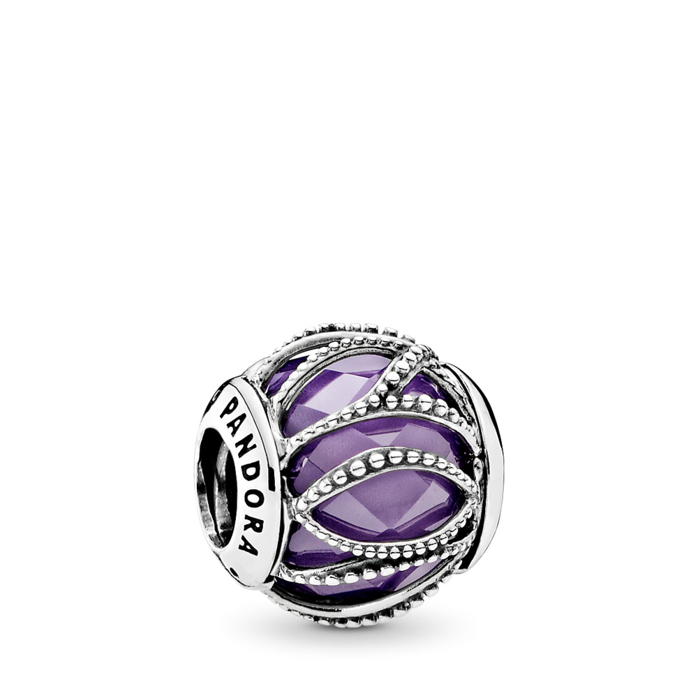 Intertwining Radiance, Purple & Clear CZ, Sterling silver, Purple, Cubic Zirconia - PANDORA - #791968ACZ