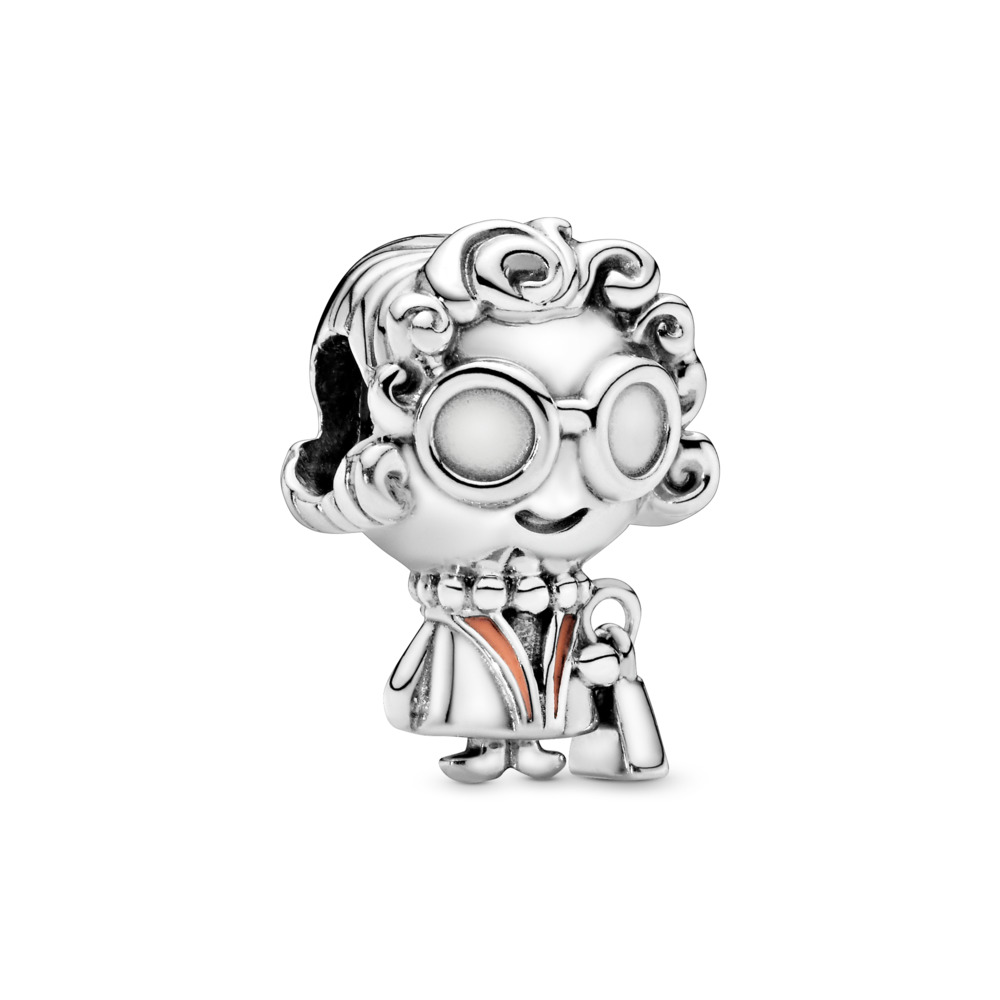 Mrs. Wise Charm, Sterling silver, Enamel, Pink - PANDORA - #798014EN190