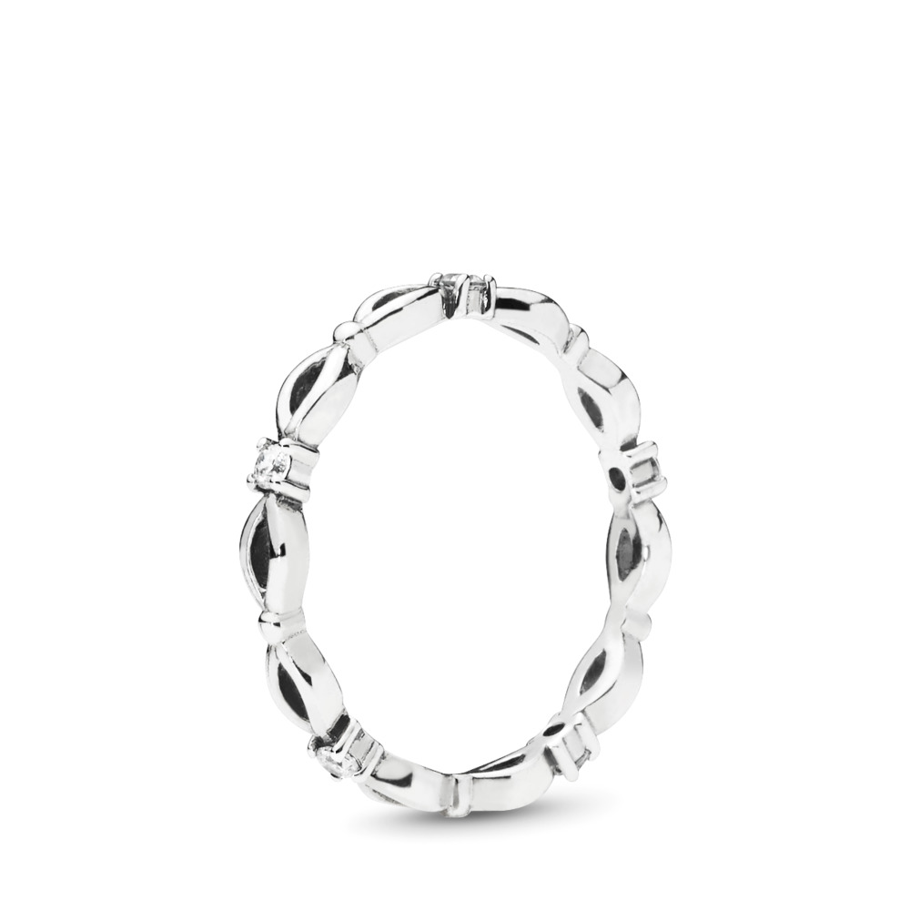 Eternal Marquise Ring, Clear CZ, Sterling silver, Cubic Zirconia - PANDORA - #197680CZ