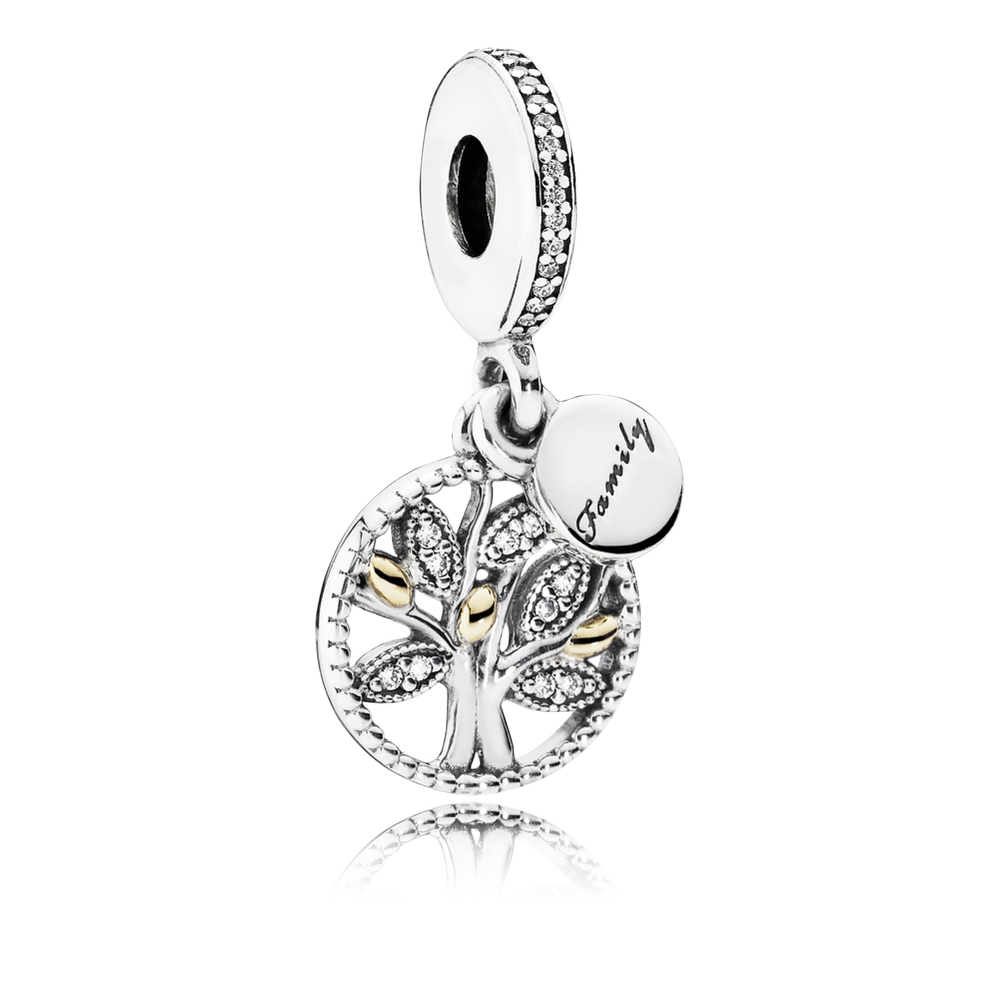 Family Heritage Dangle Charm, Clear CZ