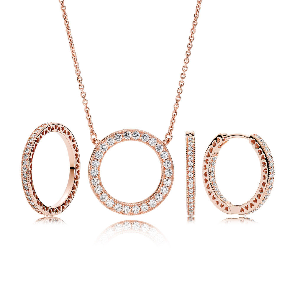 PANDORA Rose™ Radiant Hearts Jewelry Set