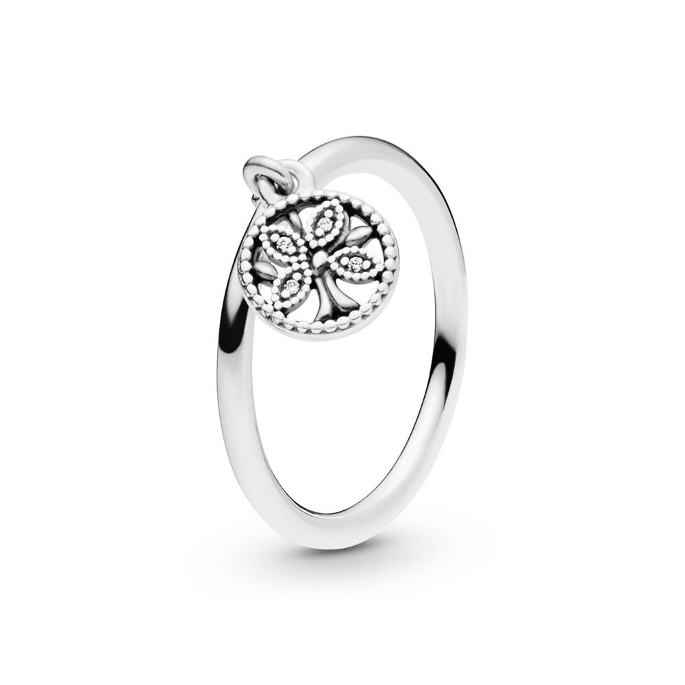 Pandora Tree of Life Ring, Sterling silver, Cubic Zirconia - PANDORA - #197782CZ