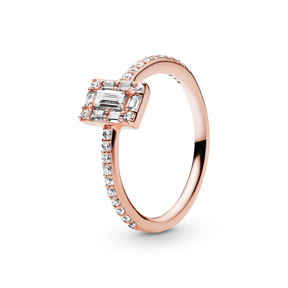 Luminous Ice Ring, PANDORA Rose™ & Clear CZ, PANDORA Rose, Cubic Zirconia - PANDORA - #187541CZ