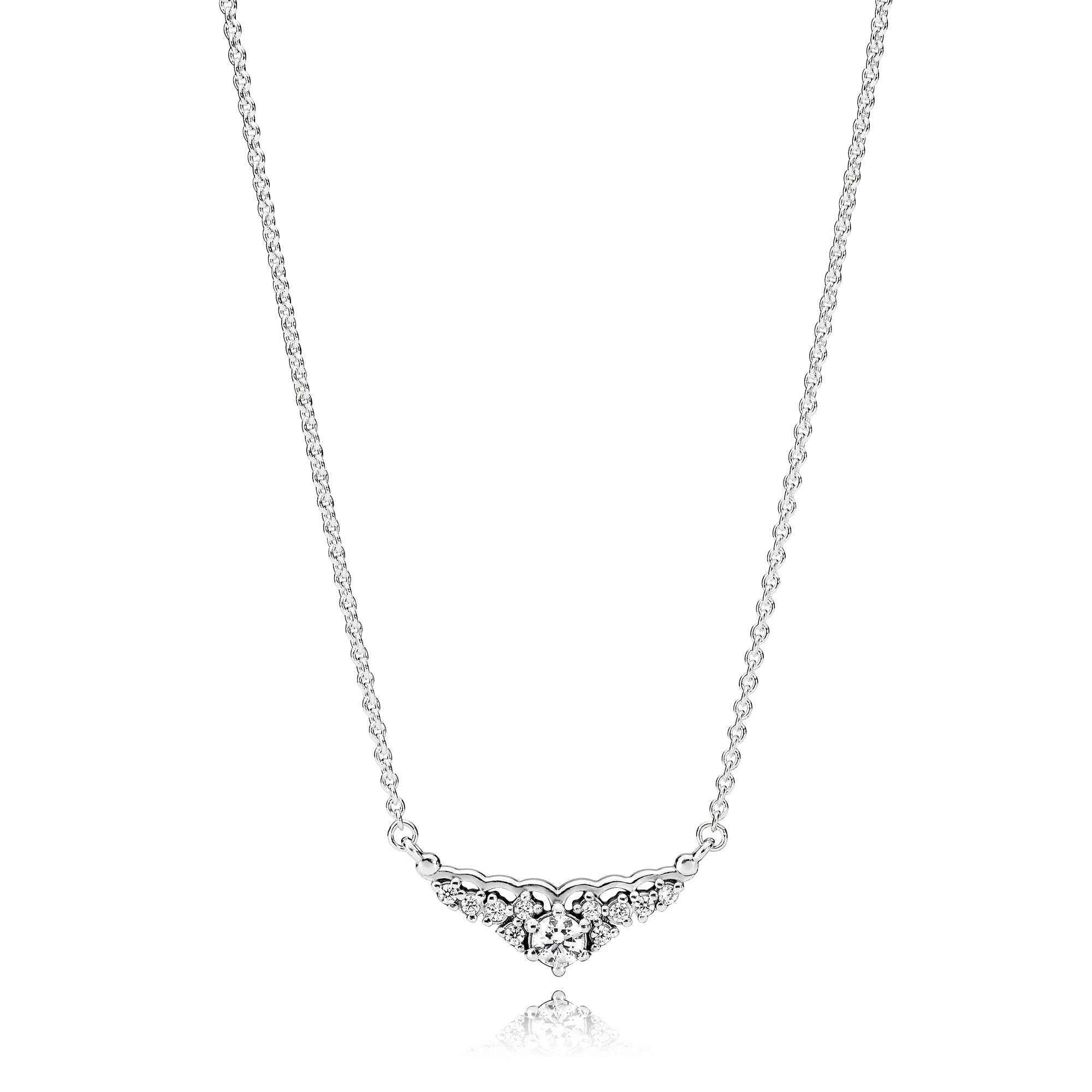 Fairytale Tiara Necklace, Clear CZ