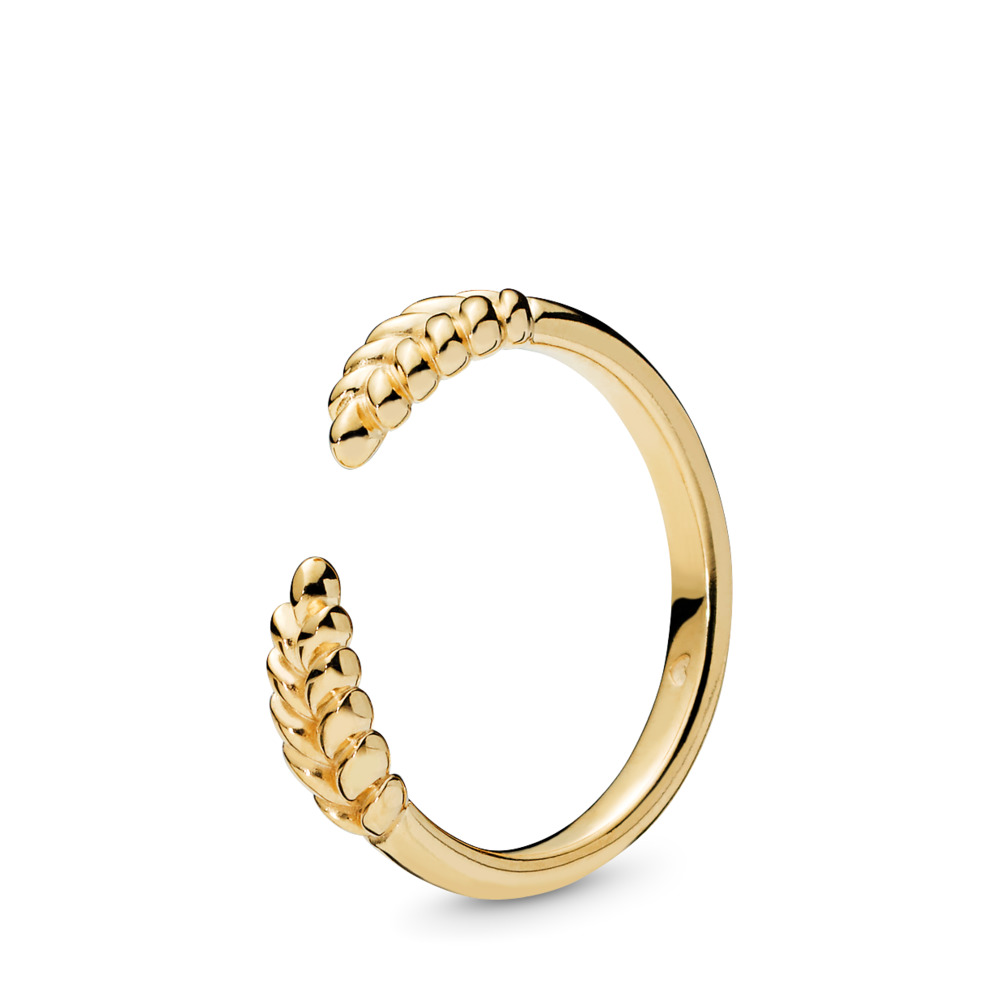 Open Grains Ring, PANDORA Shine™, 18ct Gold Plated - PANDORA - #167699