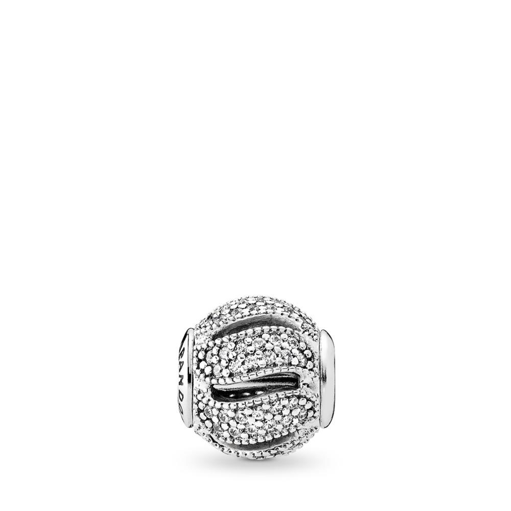 LOYALTY Charm, Clear CZ, Sterling silver, Silicone, Cubic Zirconia - PANDORA - #796074CZ