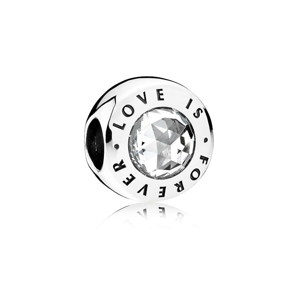Love is Forever, Clear CZ, Sterling silver, Cubic Zirconia - PANDORA - #791813CZ