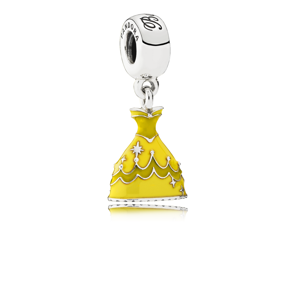 Disney, Belle's Dress Dangle Charm, Mixed Enamel