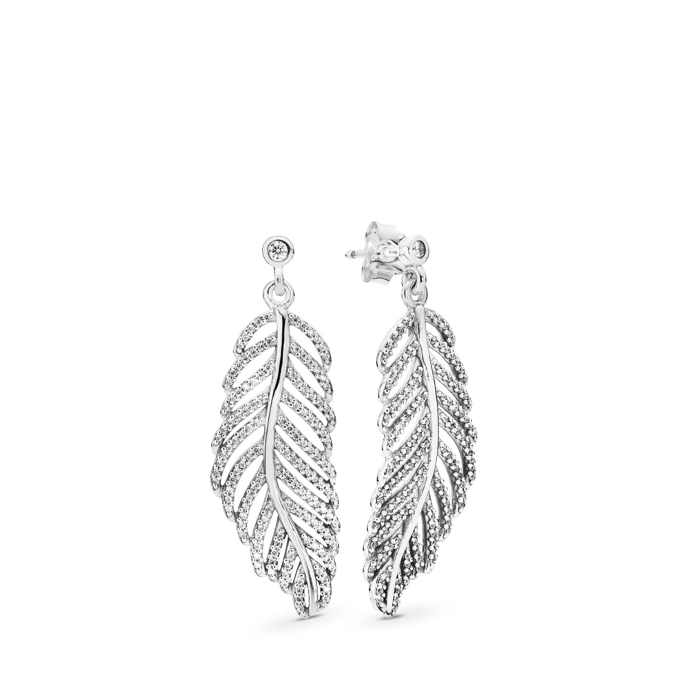 Light as a Feather, Clear CZ, Sterling silver, Cubic Zirconia - PANDORA - #290584CZ