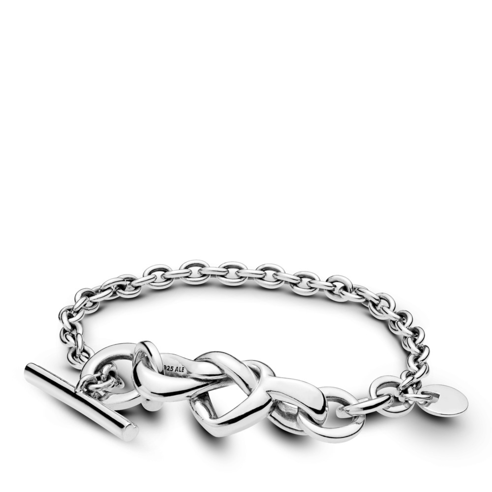 Knotted Heart Bracelet, Sterling silver - PANDORA - #598100