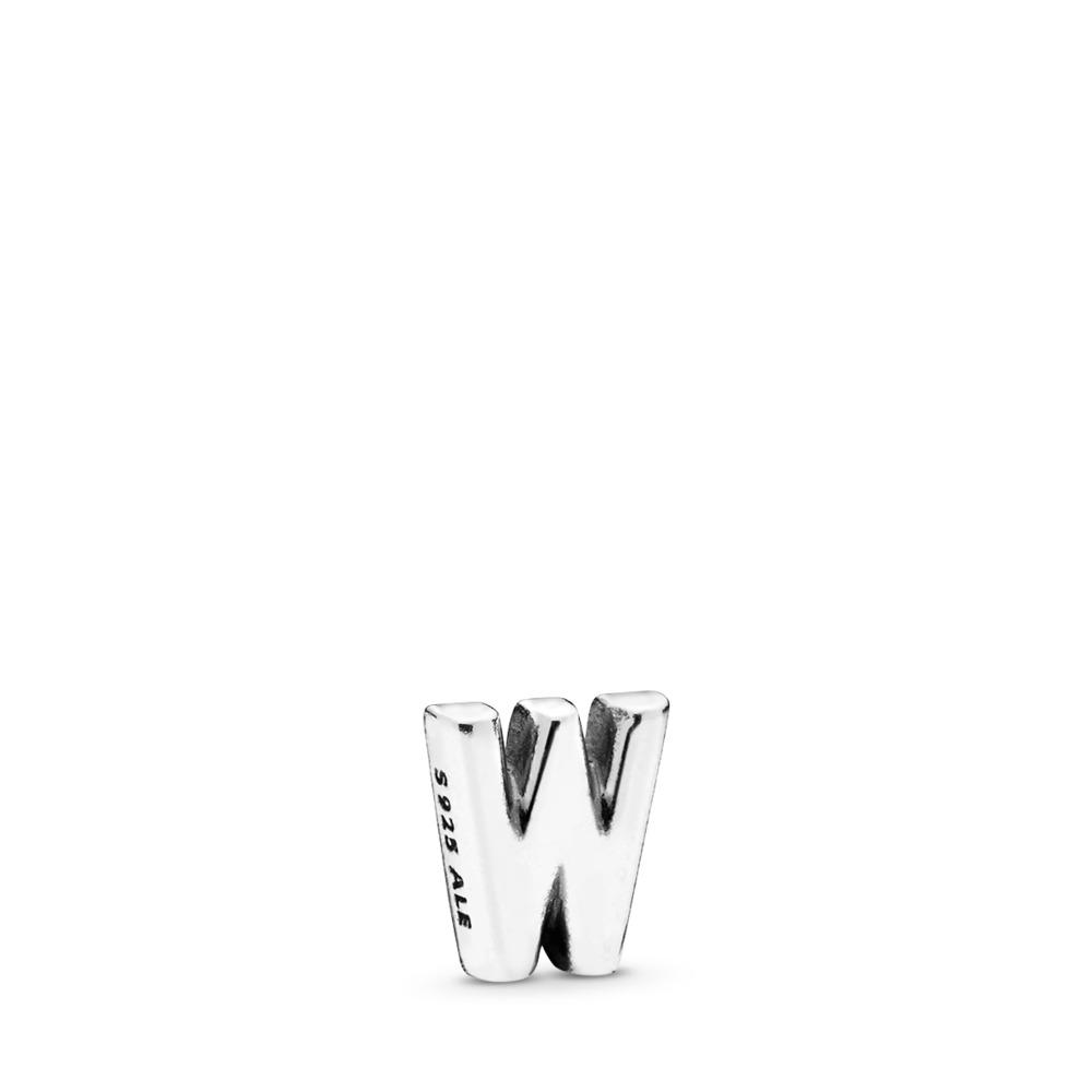 Letter W Petite Locket Charm, Sterling silver - PANDORA - #797341
