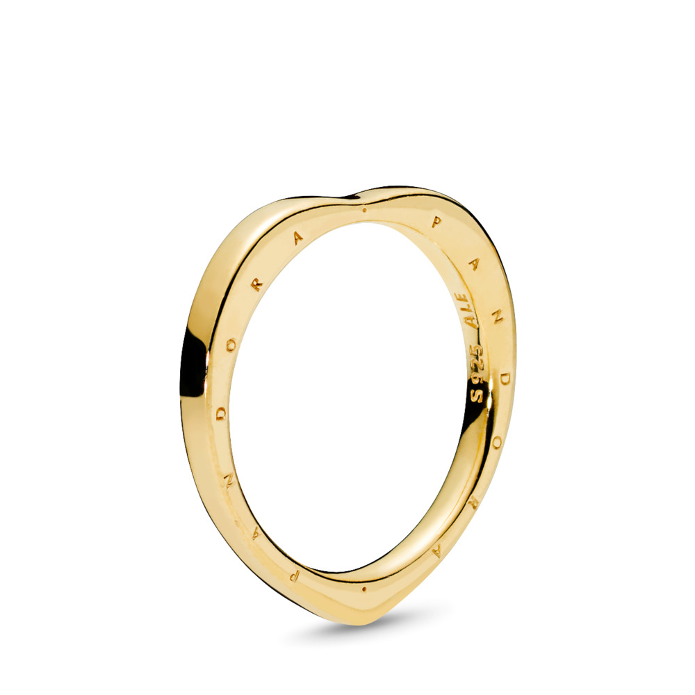 PANDORA Signature Arcs of Love Ring, PANDORA Shine™, 18ct Gold Plated - PANDORA - #167379