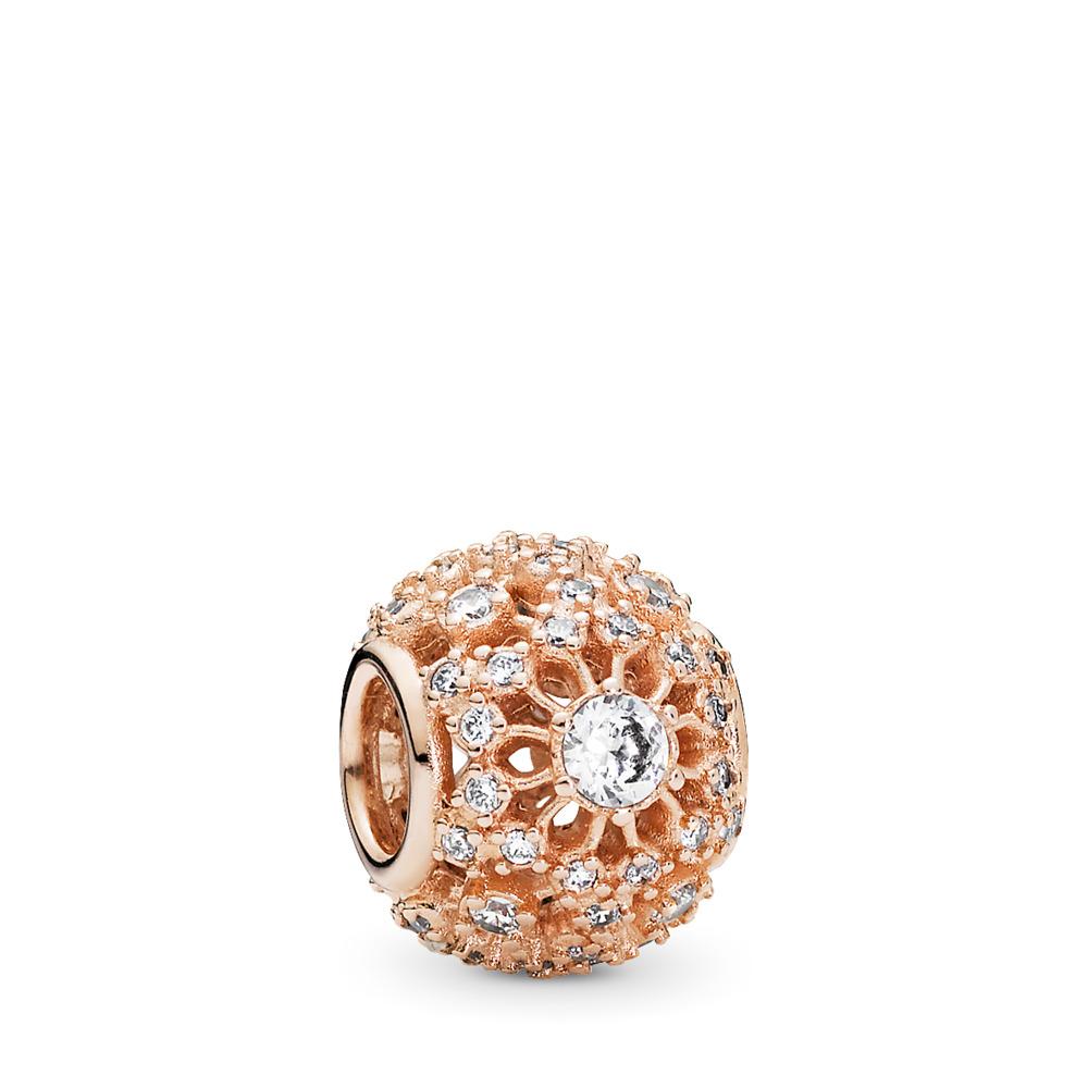 Inner Radiance Charm, PANDORA Rose™ & Clear CZ, PANDORA Rose, Cubic Zirconia - PANDORA - #781370CZ