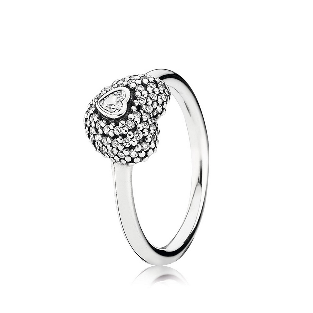 In My Heart Pavé Ring, Clear CZ