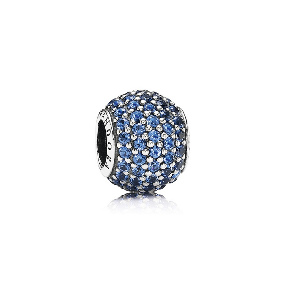 Pavé Lights Charm, Blue Crystal