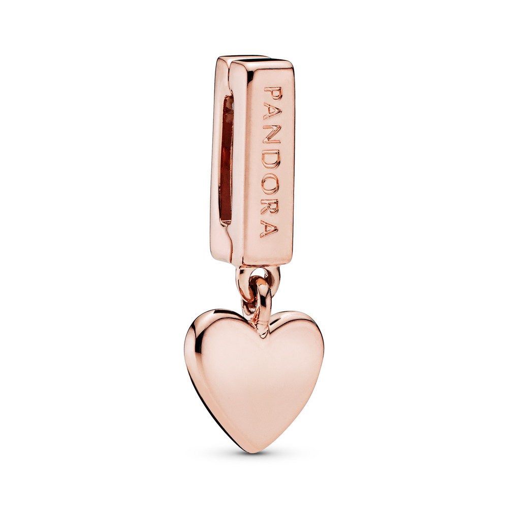 PANDORA Reflexions™ Floating Heart Clip Charm, PANDORA Rose™, PANDORA Rose, Silicone - PANDORA - #787643