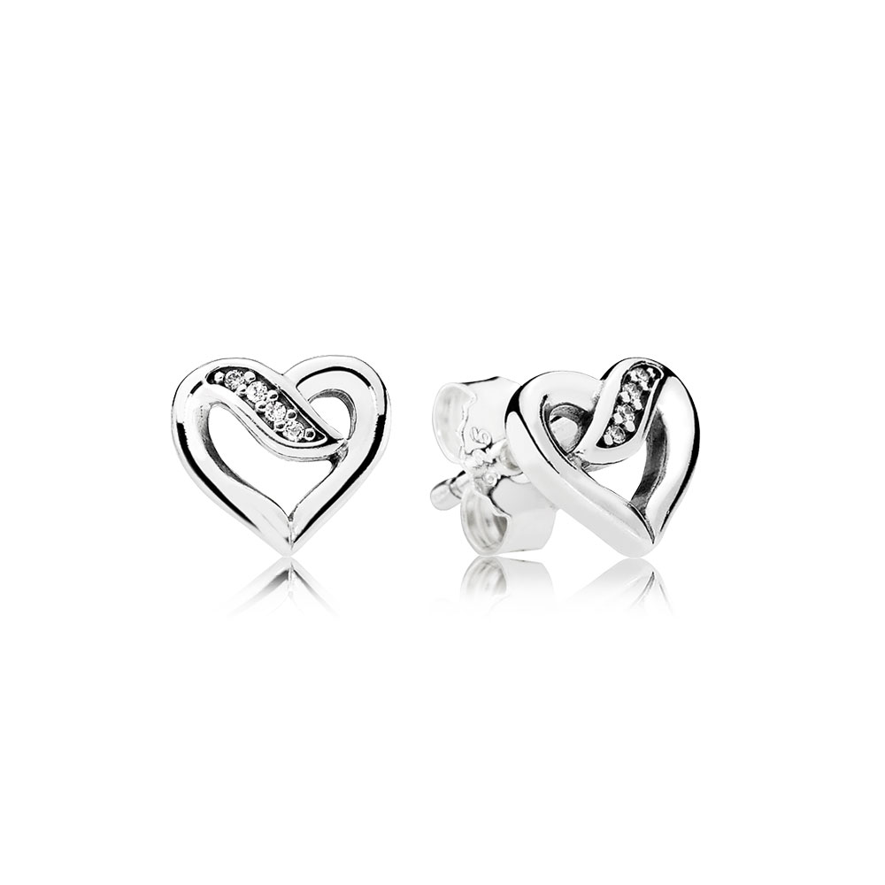 Dreams Of Love Stud Earrings Clear Cz