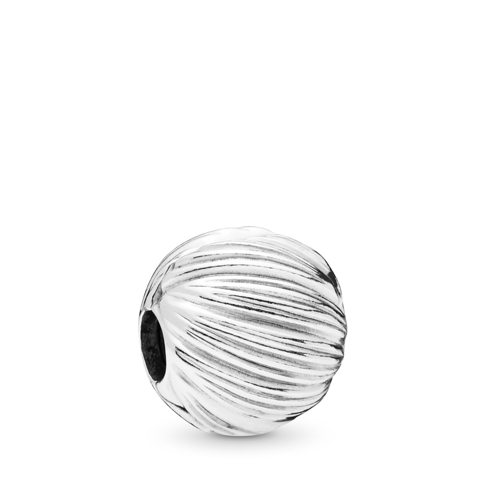 Seeds of Elegance Clip, Sterling silver, Silicone - PANDORA - #797578