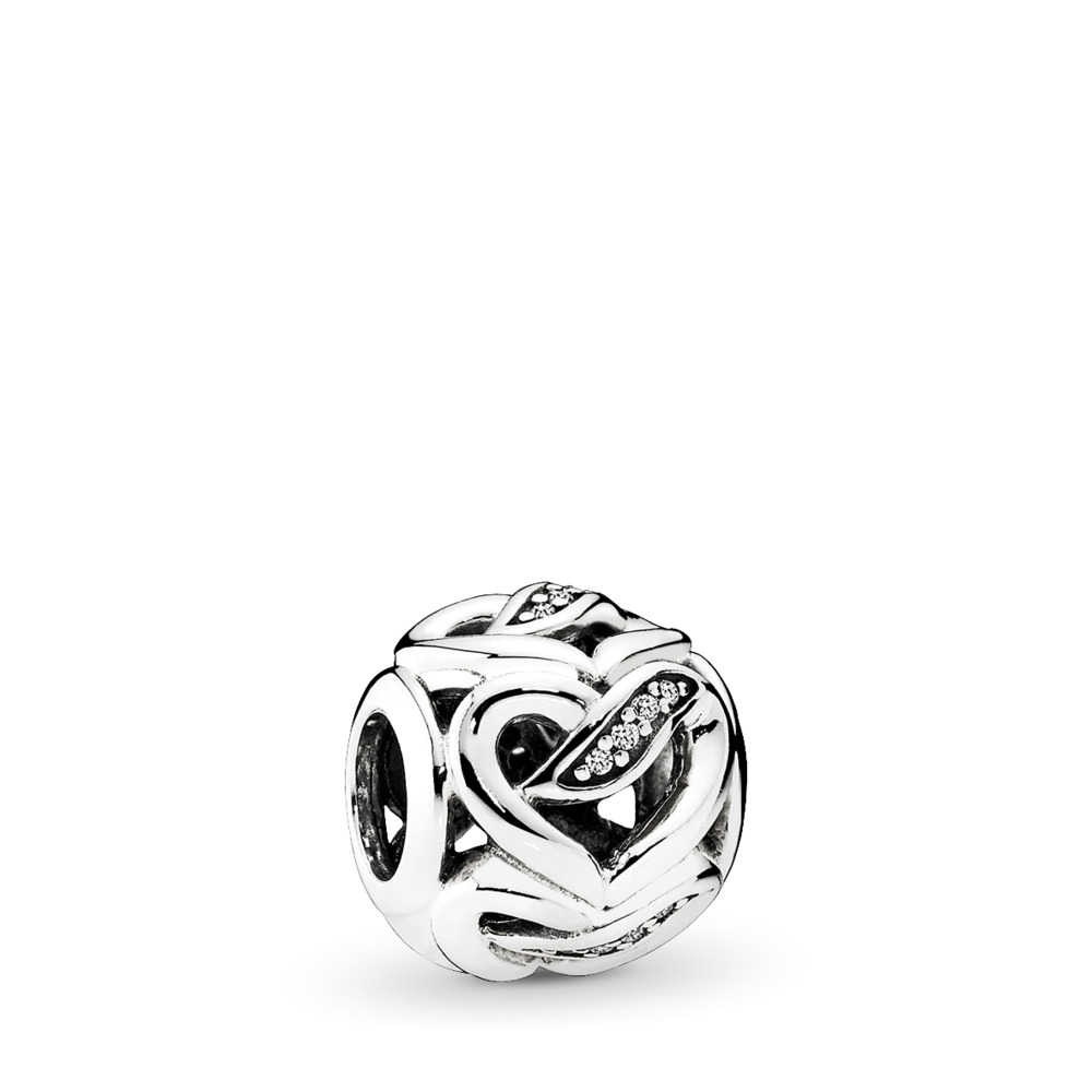 Dreams of Love Charm, Clear CZ, Sterling silver, Cubic Zirconia - PANDORA - #792046CZ