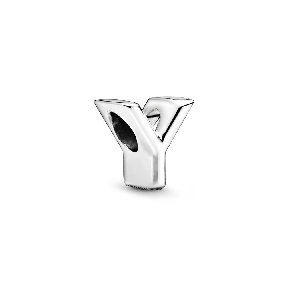 Letter Y Charm, Sterling silver - PANDORA - #797479