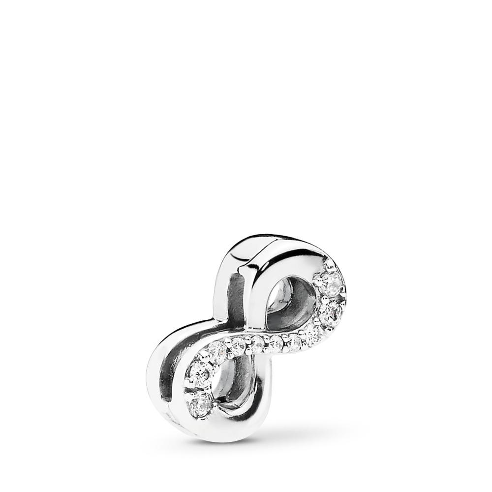 Infinito Brillante, Plata, Silicona, sin color, Circonita cúbica - PANDORA - #797580CZ