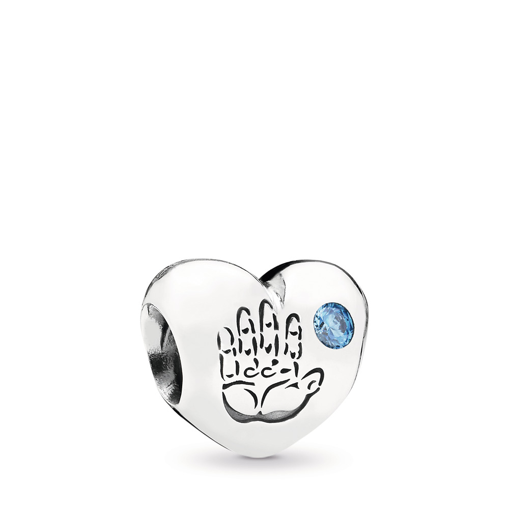 Baby Boy Charm, Blue CZ, Sterling silver, Blue, Cubic Zirconia - PANDORA - #791281CZB