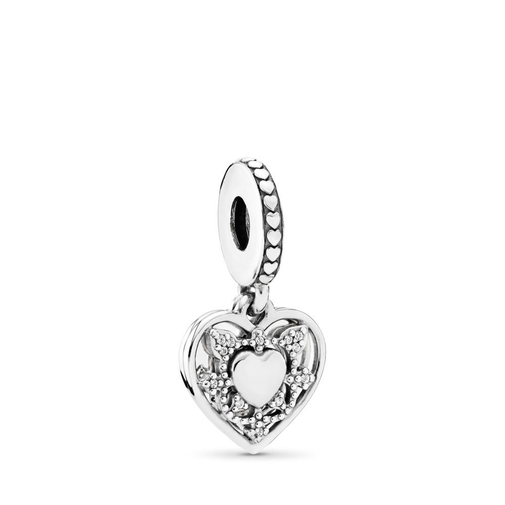 My Wife Always Dangle Charm, Clear CZ, Sterling silver, Cubic Zirconia - PANDORA - #792099CZ