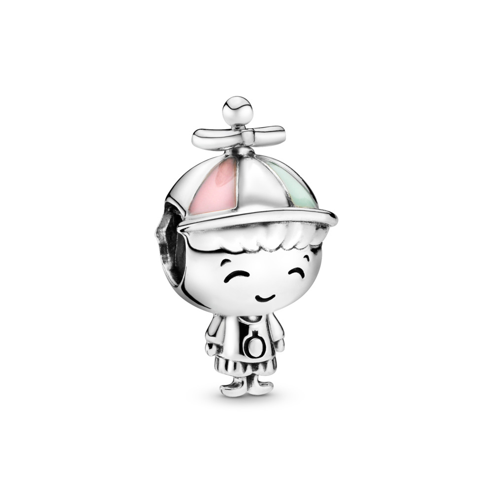 Propeller Hat Boy Charm, Sterling silver, Enamel, Green - PANDORA - #798015ENMX