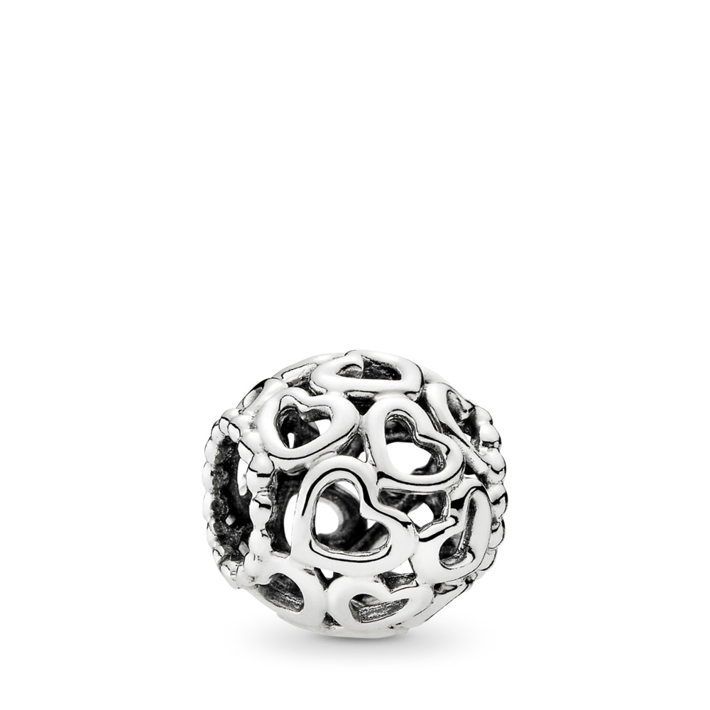 Open Your Heart Charm, Sterling silver - PANDORA - #790964