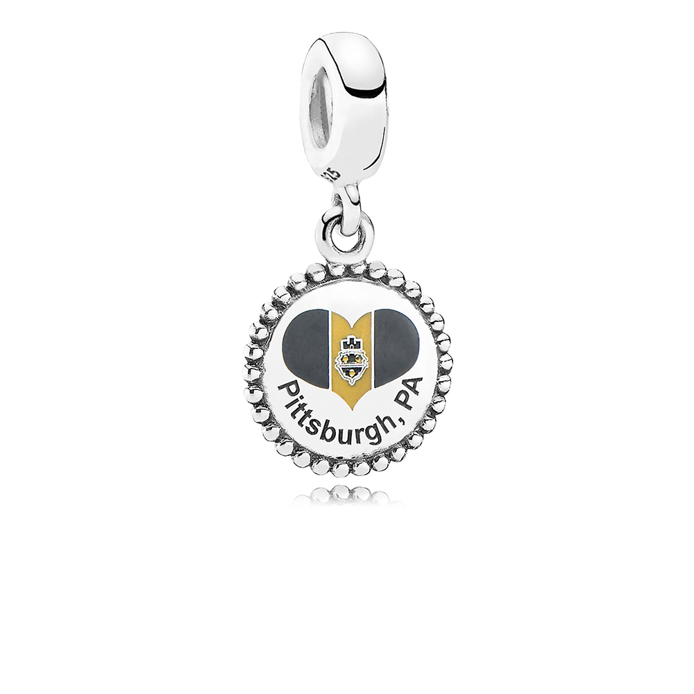 Pittsburgh Flag Dangle Charm, Mixed Enamel, Sterling silver - PANDORA - #ENG791169_8