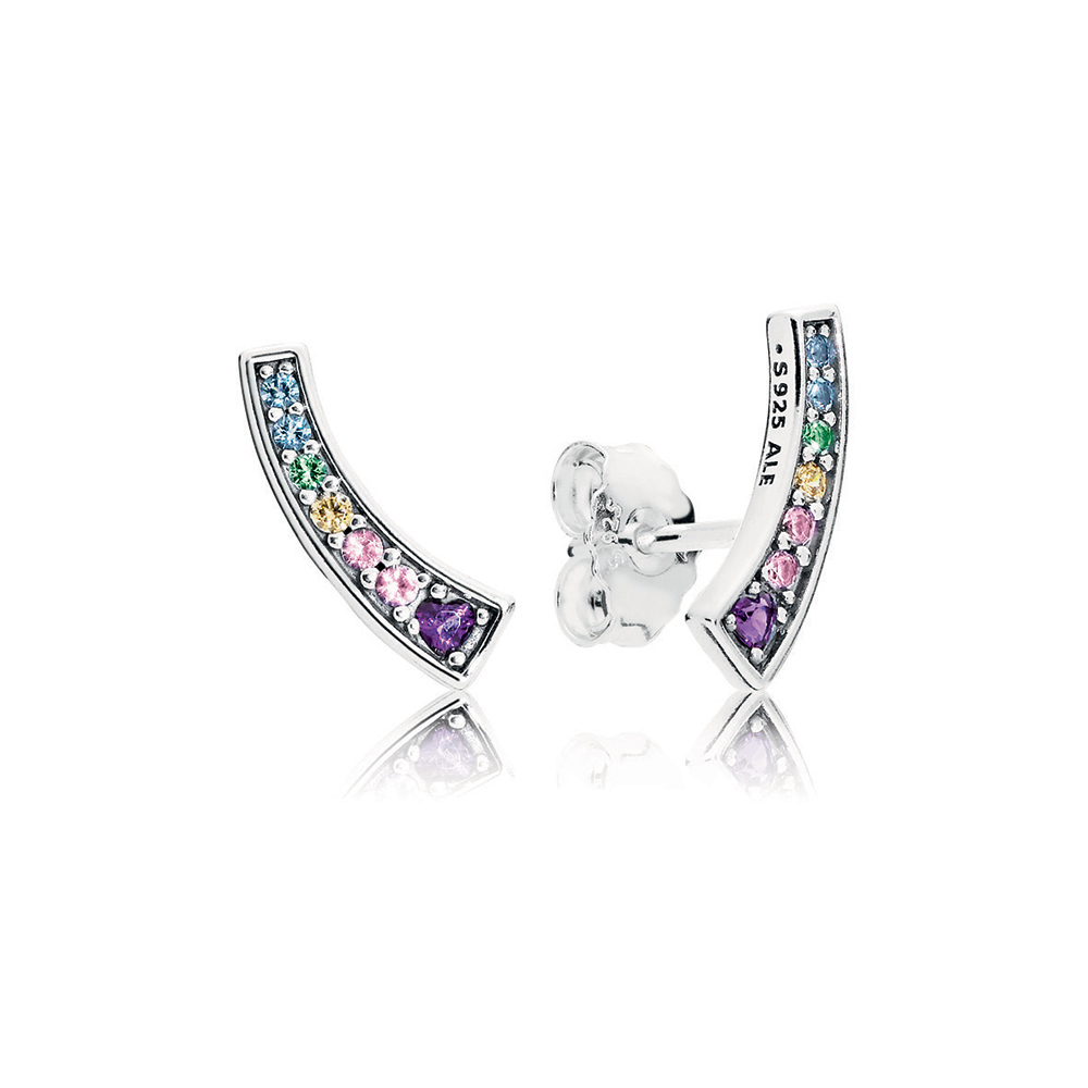 Multi-Color Arches Stud Earrings