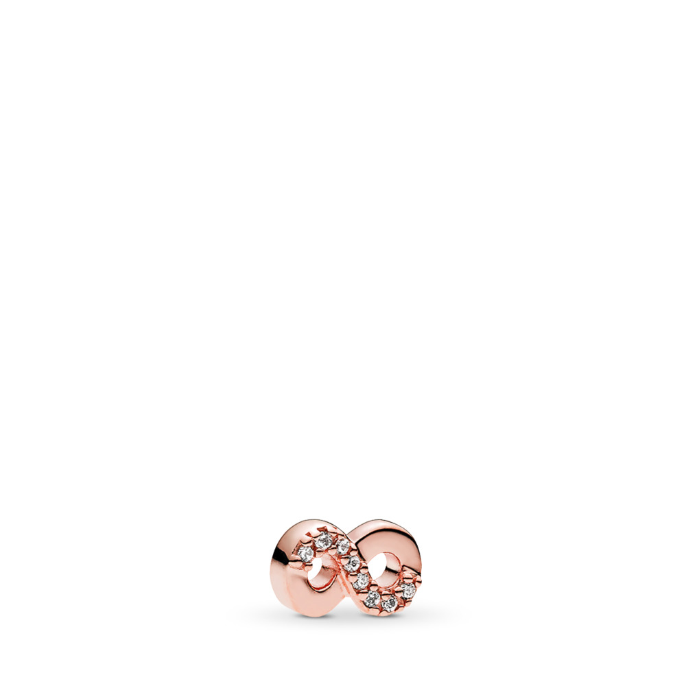 Infinite Love Petite Locket Charm, PANDORA Rose™ & Clear CZ, PANDORA Rose, Cubic Zirconia - PANDORA - #782178CZ