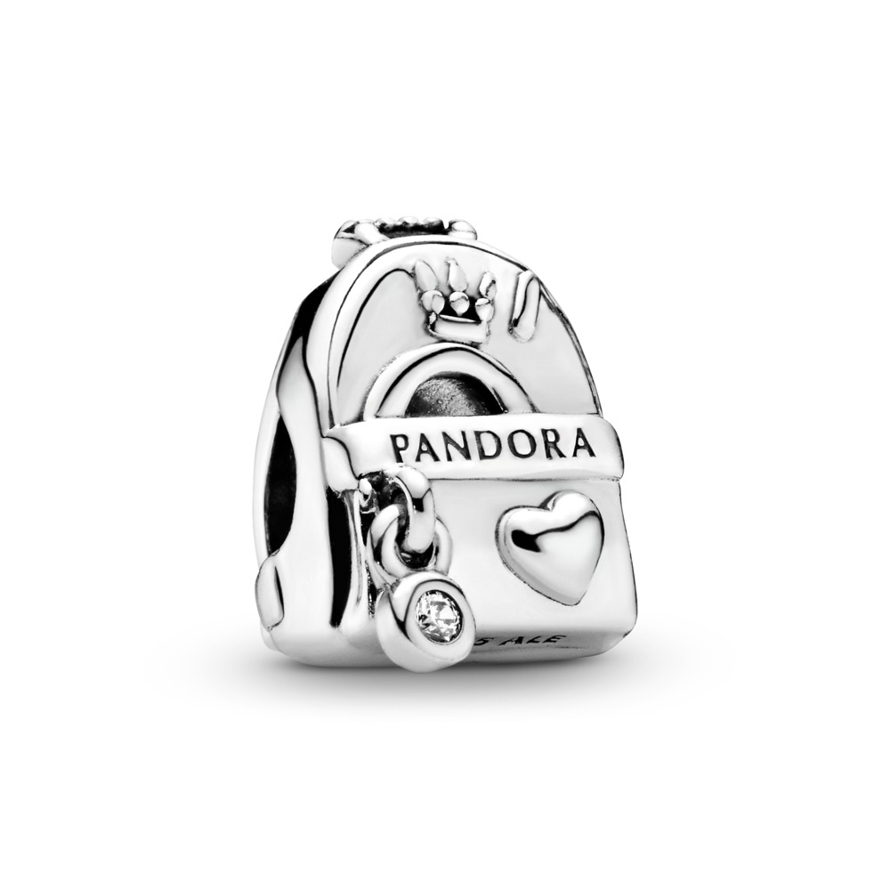 Adventure Bag, Clear CZ, Sterling silver, Cubic Zirconia - PANDORA - #797859CZ