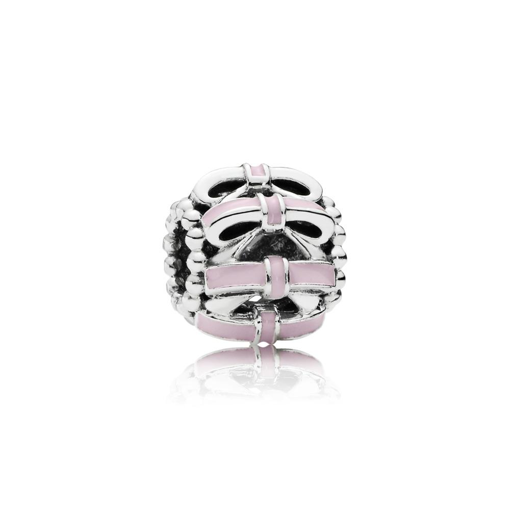 Sweet Sentiments, Pink Enamel, Sterling silver, Enamel, Pink - PANDORA - #791778EN40