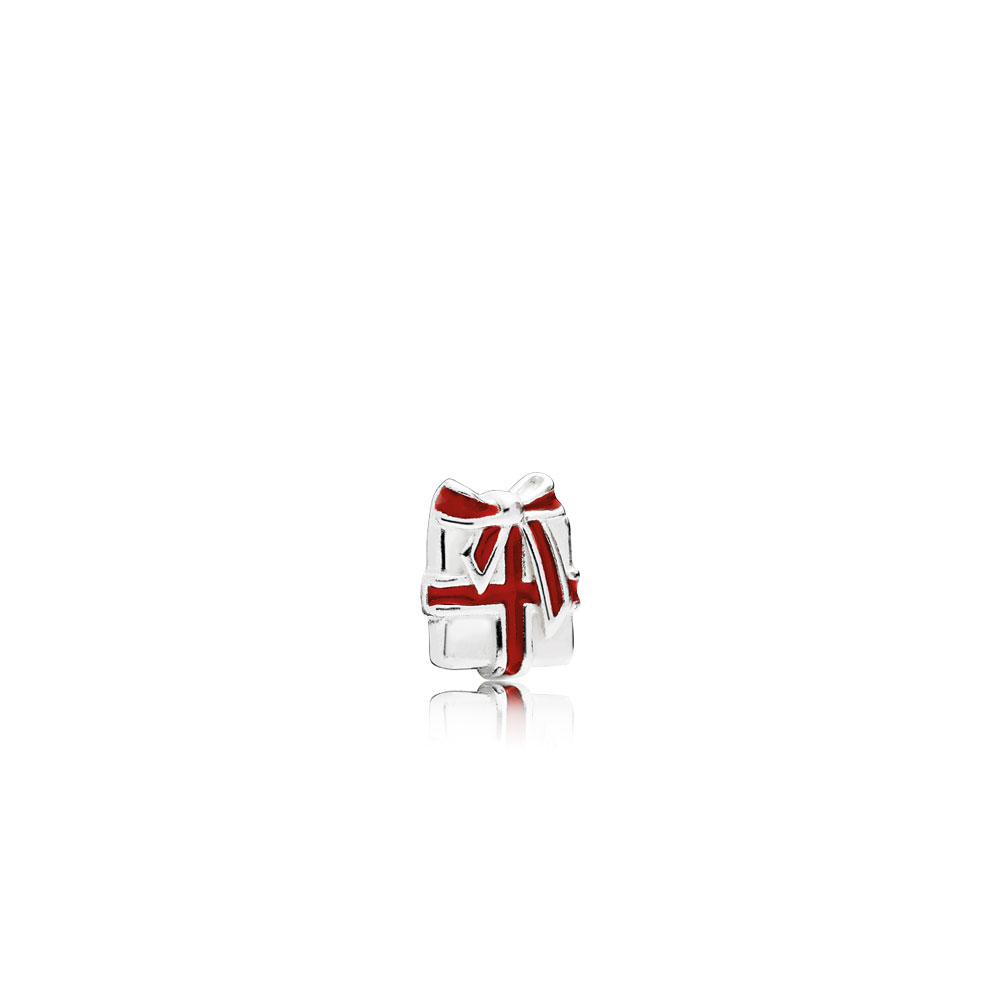 Loving Gift Petite Locket Charm, Berry Red Enamel