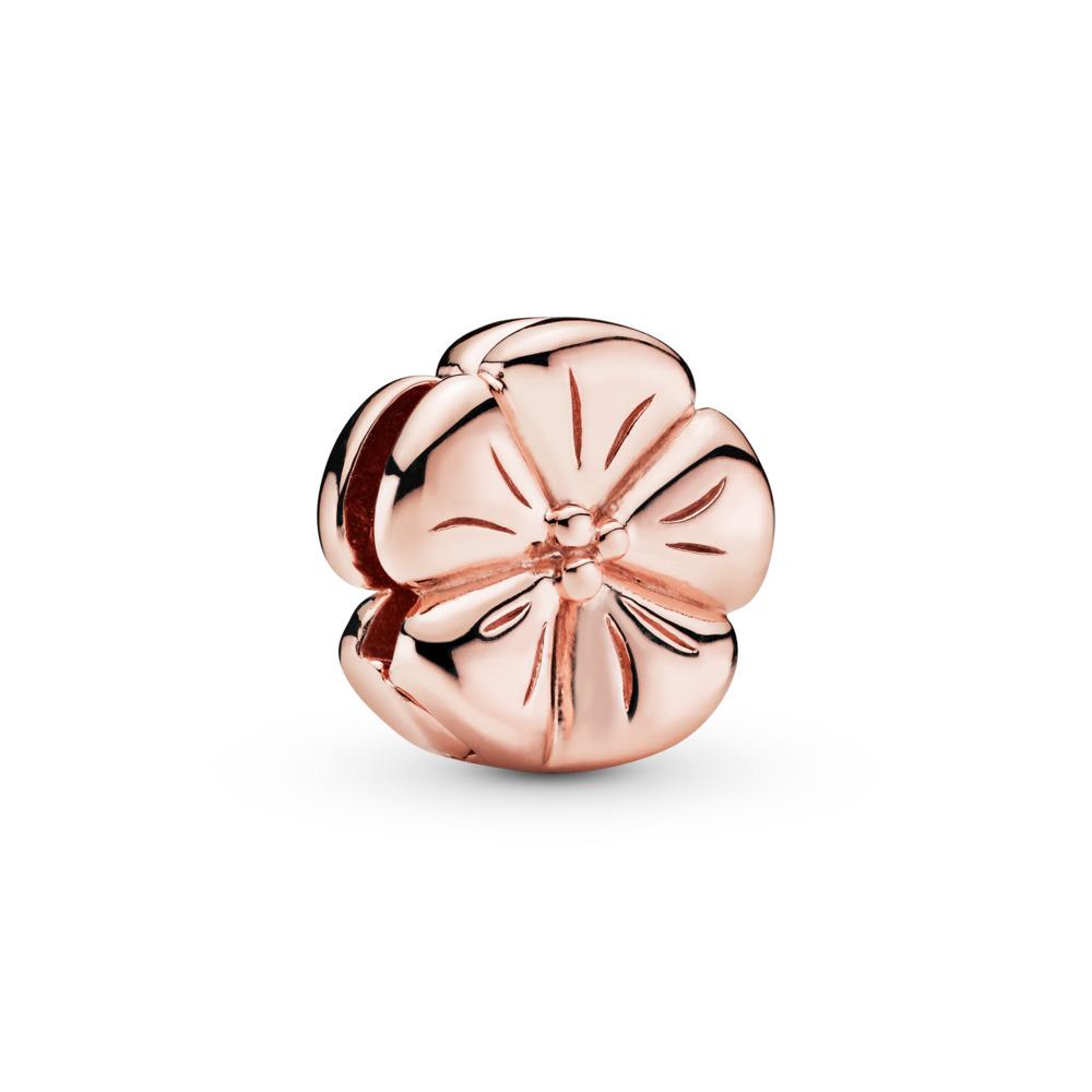 Pandora Reflexions™ Classic Flower Clip Charm, Pandora Rose™, PANDORA Rose, Silicone - PANDORA - #787897
