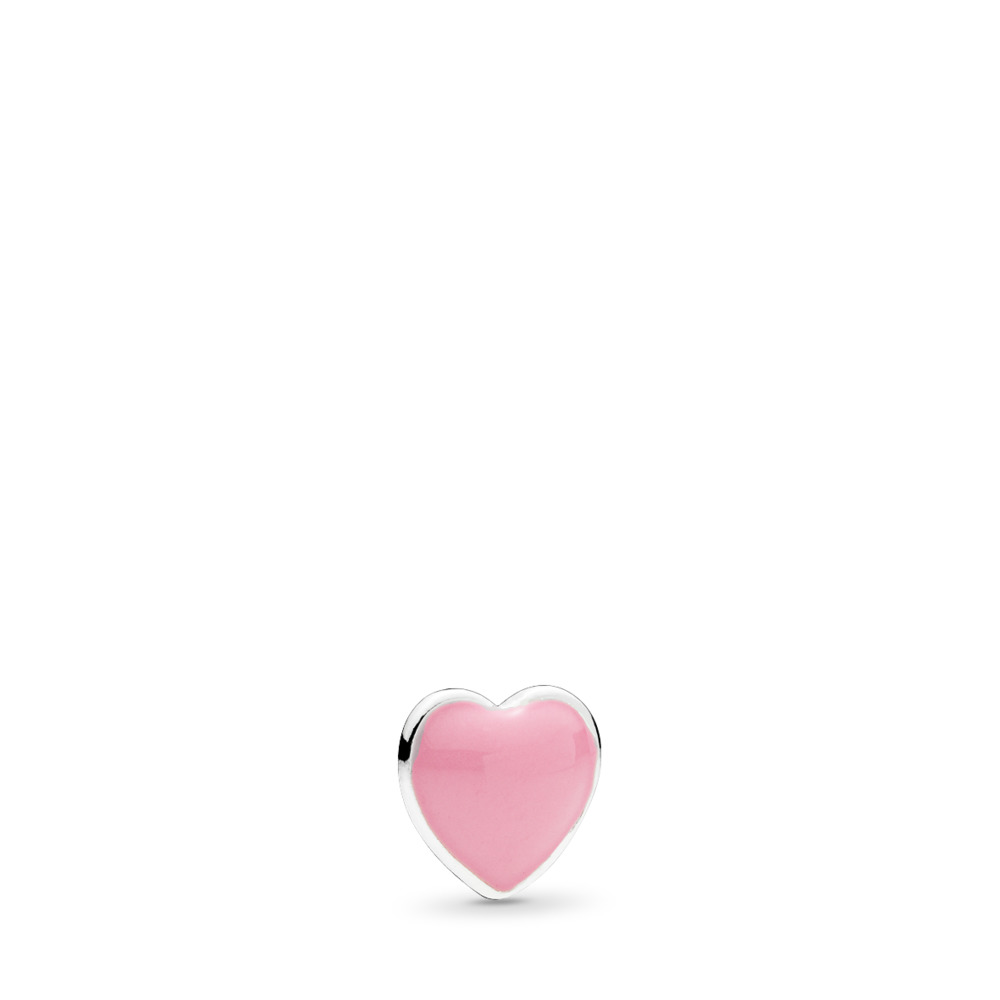 Pink Heart Petite Locket Charm, Pink Enamel, Sterling silver, Enamel, Pink - PANDORA - #792169EN24