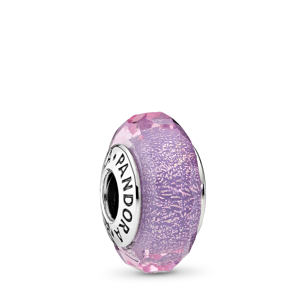 Purple Shimmer Charm, Murano Glass, Sterling silver, Glass, Purple - PANDORA - #791651