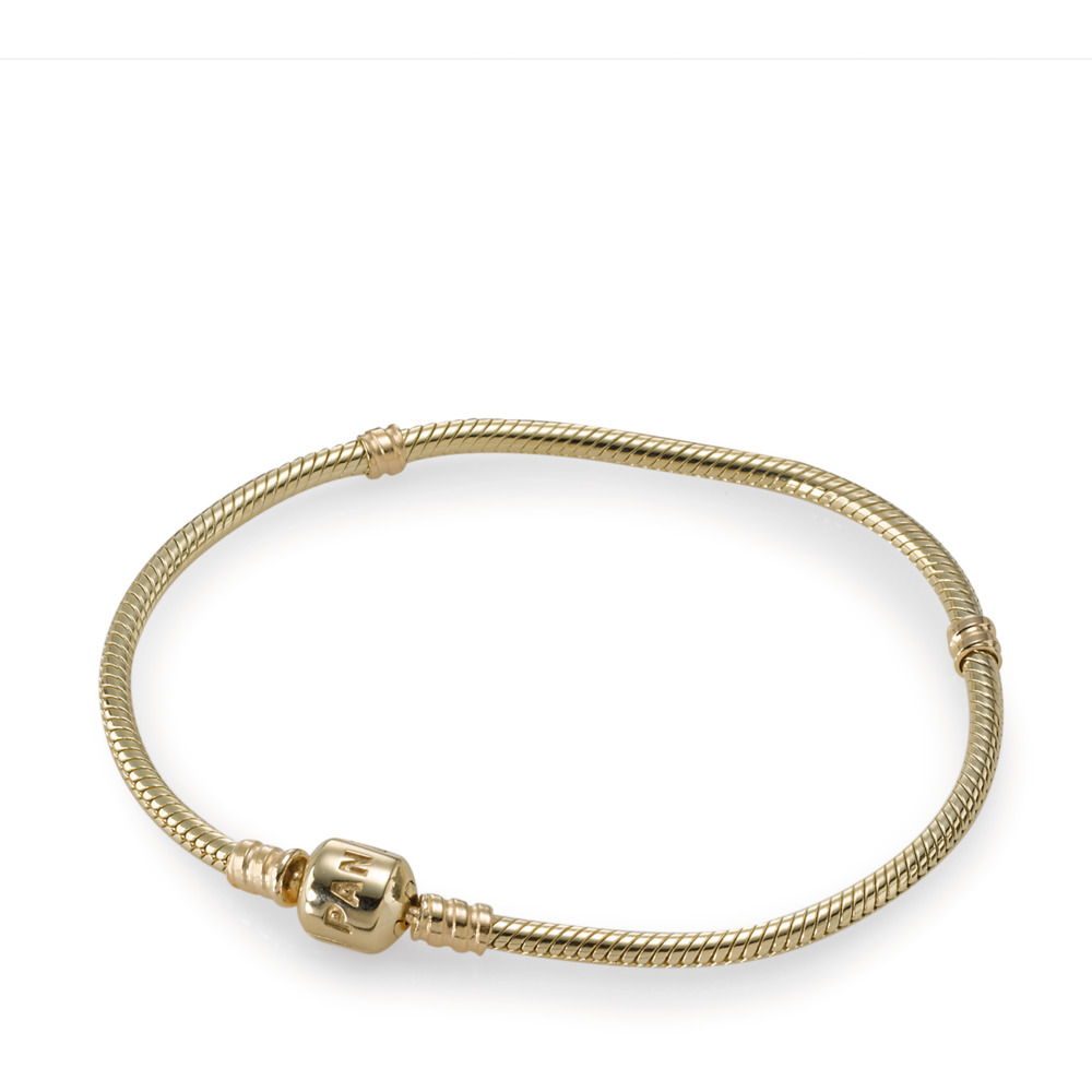 Moments Gold Clasp Bracelet, Yellow Gold 14 k - PANDORA - #550702