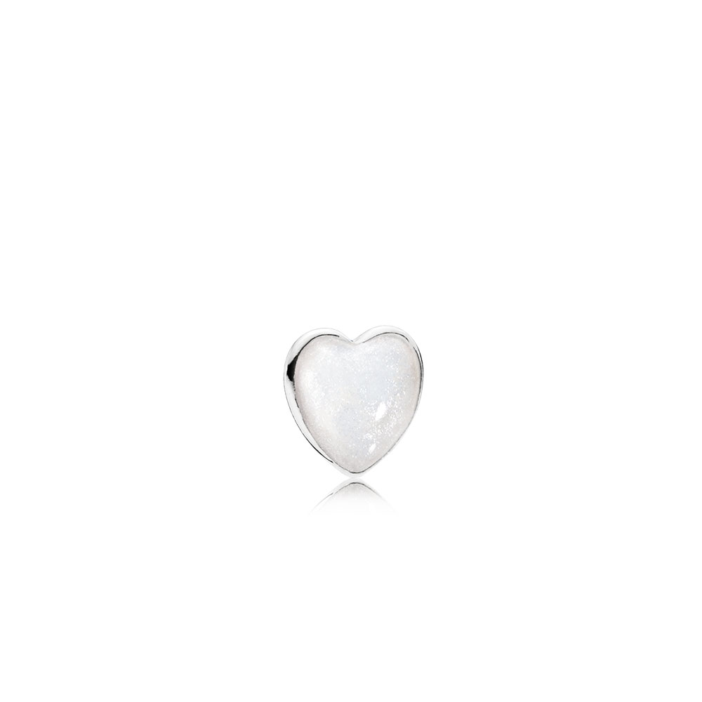 Pearlescent Heart Petite Locket Charm