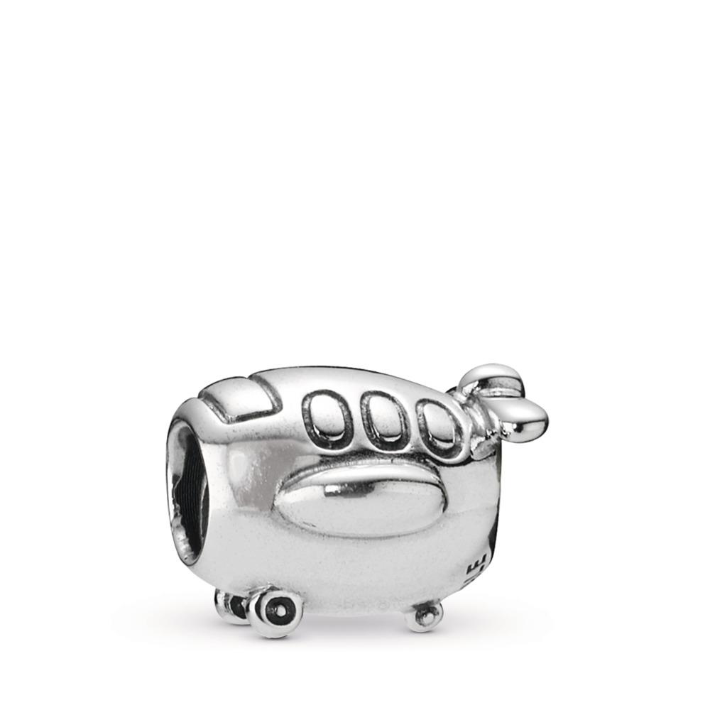 Airplane Charm, Sterling Silver Oxidised - PANDORA - #790561