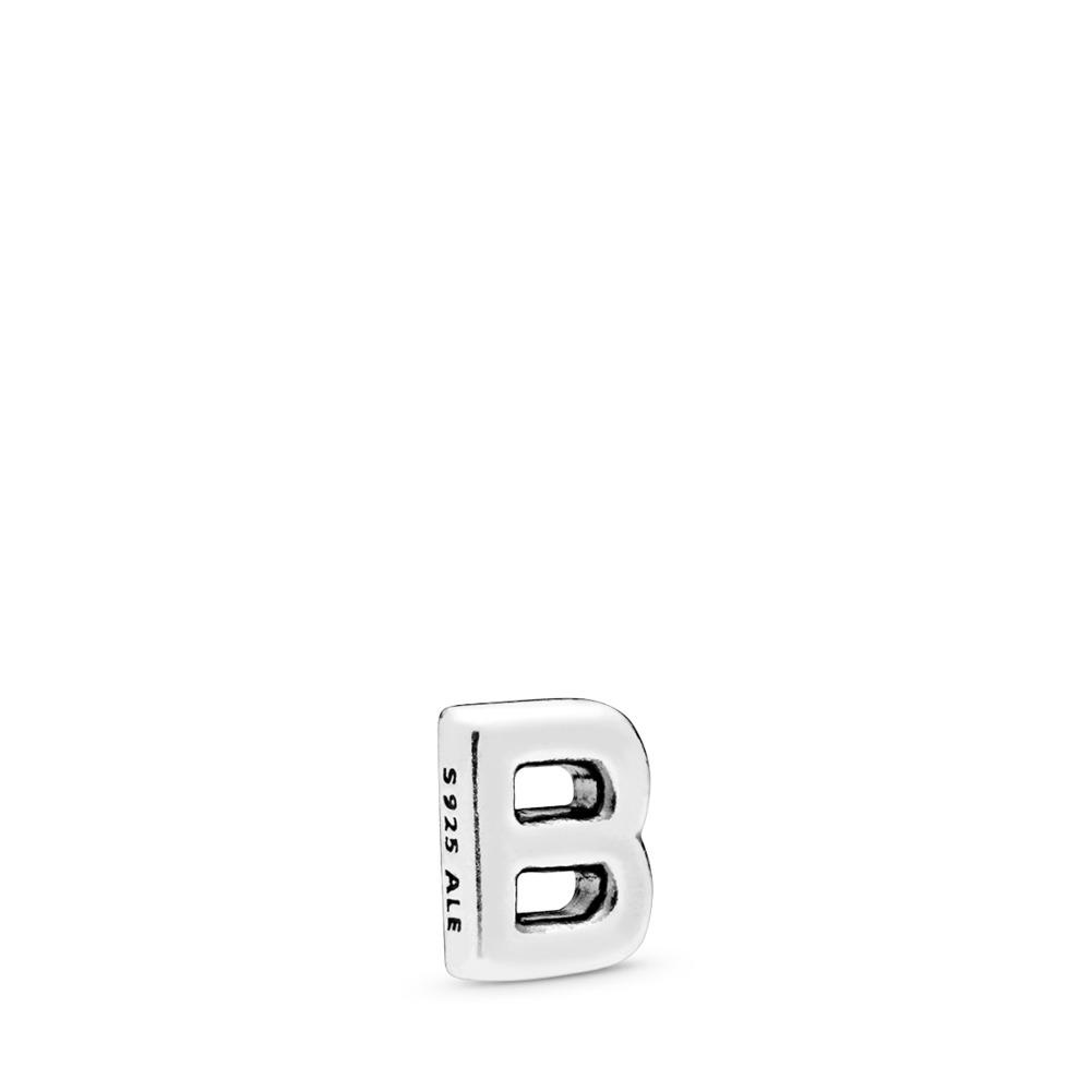 Letter B Petite Locket Charm, Sterling silver - PANDORA - #797319
