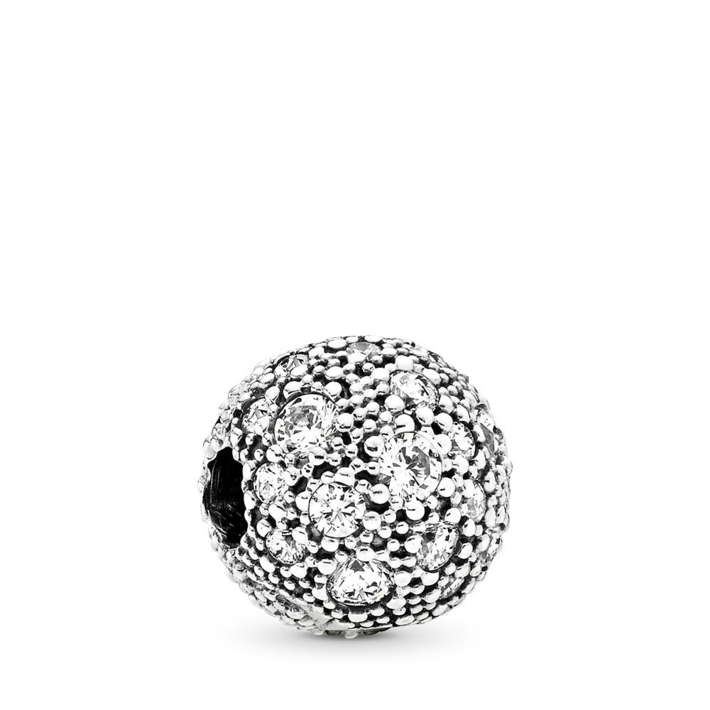Cosmic Stars Clip, Clear CZ, Sterling silver, Cubic Zirconia - PANDORA - #791286CZ