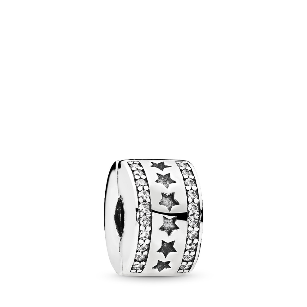 Starry Formation Clip, Clear CZ, Sterling silver, Cubic Zirconia - PANDORA - #796381CZ