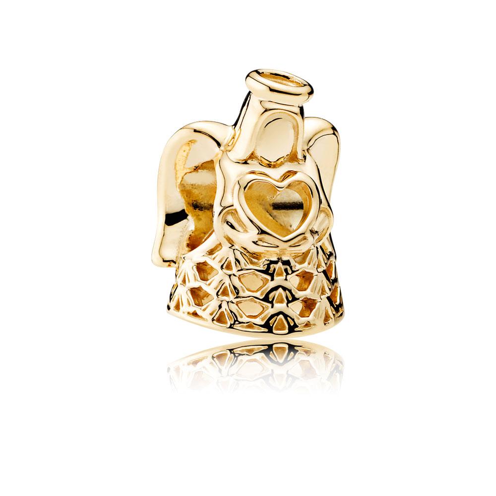 Angel of Grace Charm, 14K Gold
