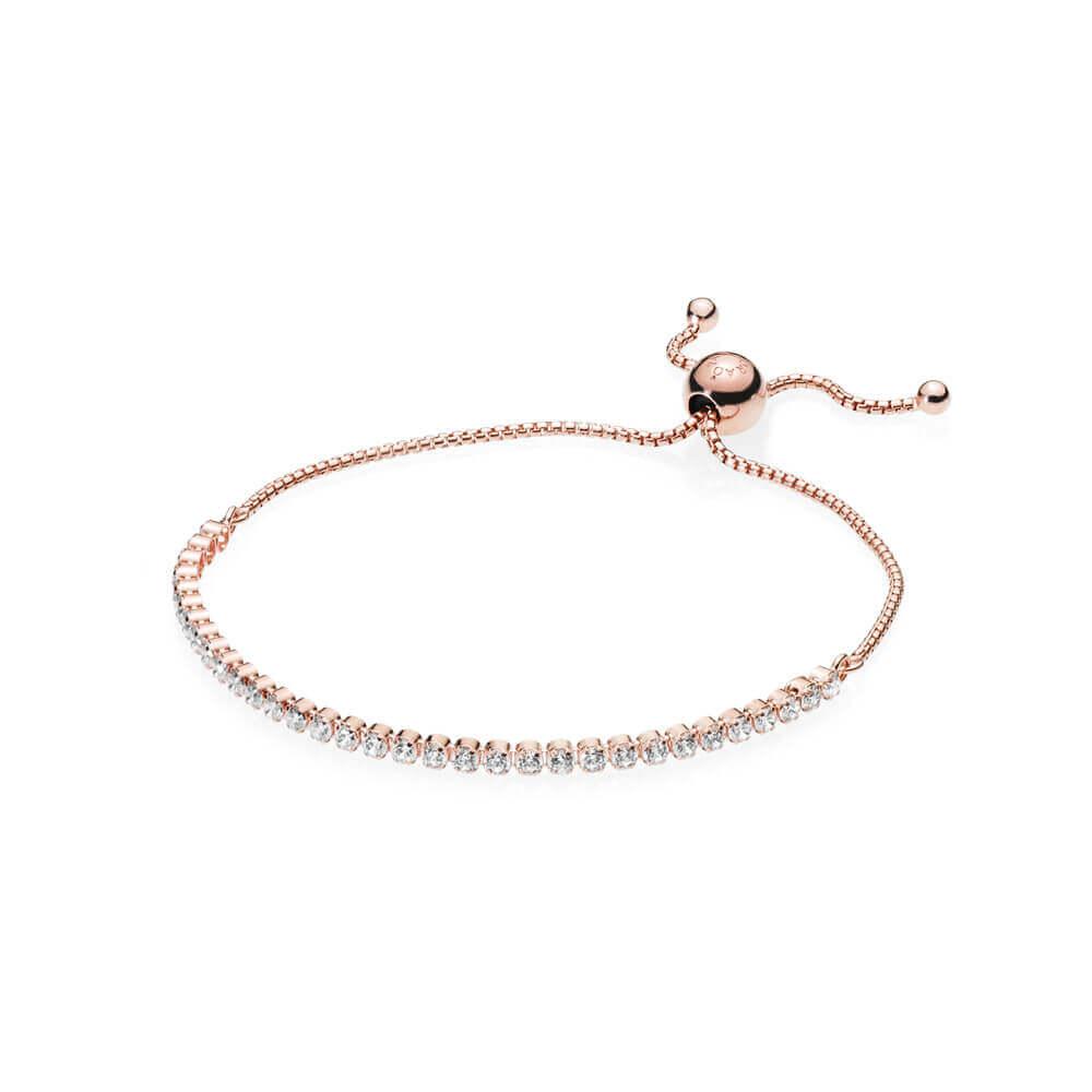 Sparkling Strand Bracelet, PANDORA Rose™ & Clear CZ