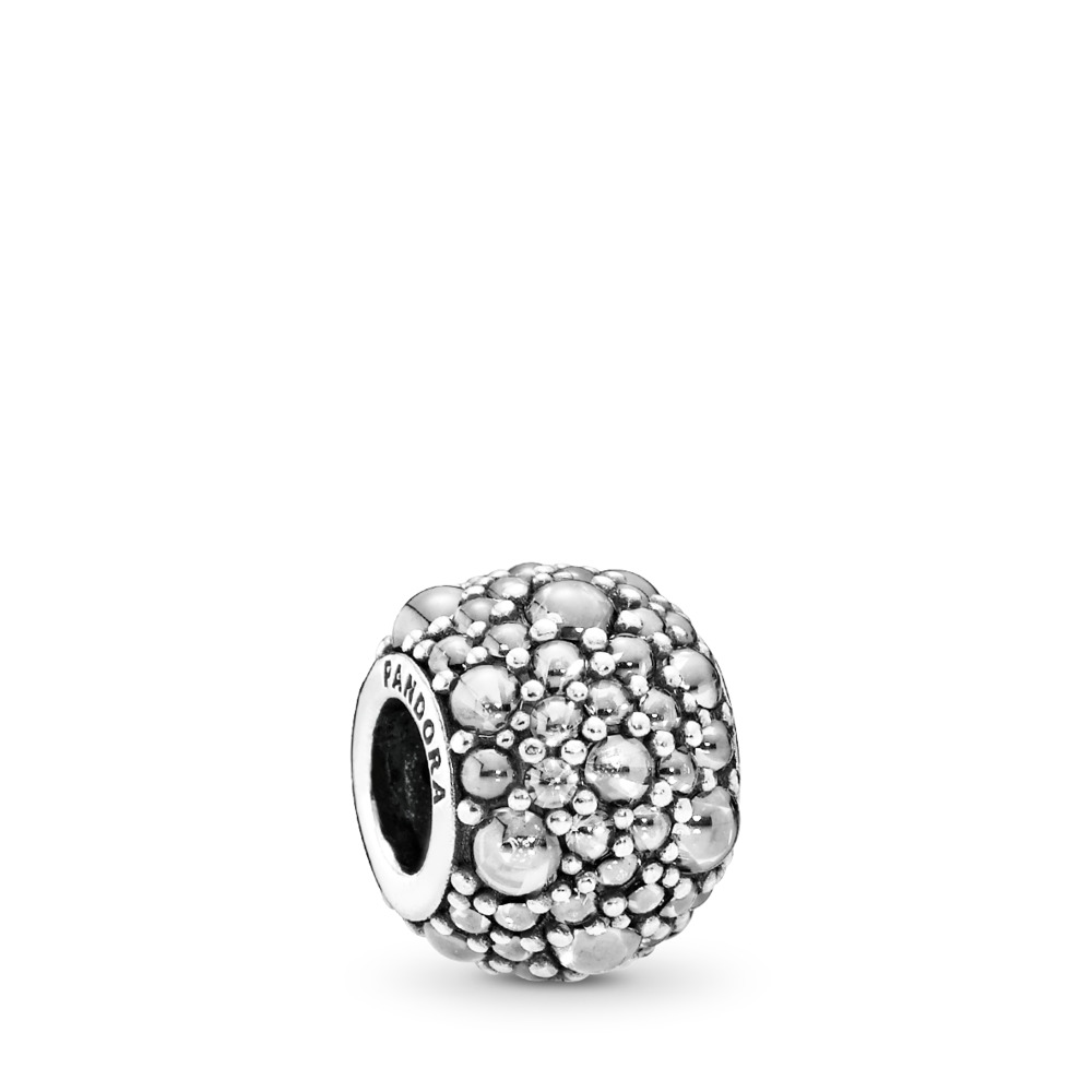 Shimmering Droplets Charm, Clear CZ, Sterling silver, Cubic Zirconia - PANDORA - #791755CZ